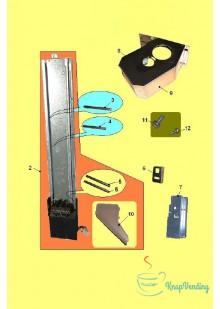 Блок механизма выдачи размешивателей BV951 L=90/105