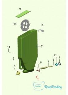 Бункер растворимых ингредиентов с 1 шестерней H505