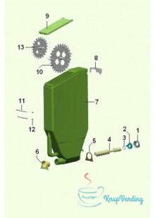Бункер растворимых ингредиентов с 2 шестернями H505